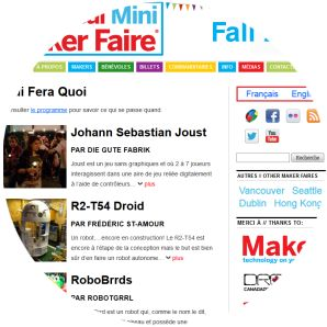 Molecularcode Website Design Portfolio - Montreal Mini Maker Faire