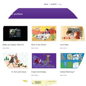 Molecularcode Website Design Portfolio - Purple Ink Design.