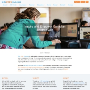 Website Design Portfolio - Kids Code Jeunesse