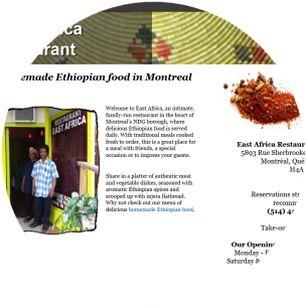 Molecularcode Website Design Portfolio - East Africa Restaurant