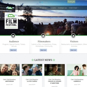 Website Design Portfolio - Eastern Townships Film Festival