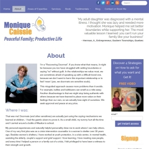 Website Design Portfolio - Monique Caissie Coaching