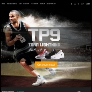 Website Design Portfolio - Tony Parker Shoes