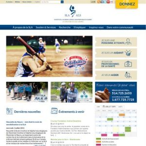 Website Design Portfolio - ALS Society of Quebec