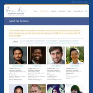 Website Design Portfolio - Jeanne Sauve Foundation