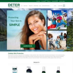 Website Design Portfolio - Deter Outdoor