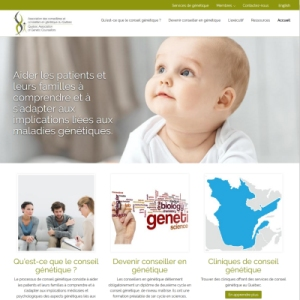 Website Design Portfolio - Quebec Association of Genetic Counsellors